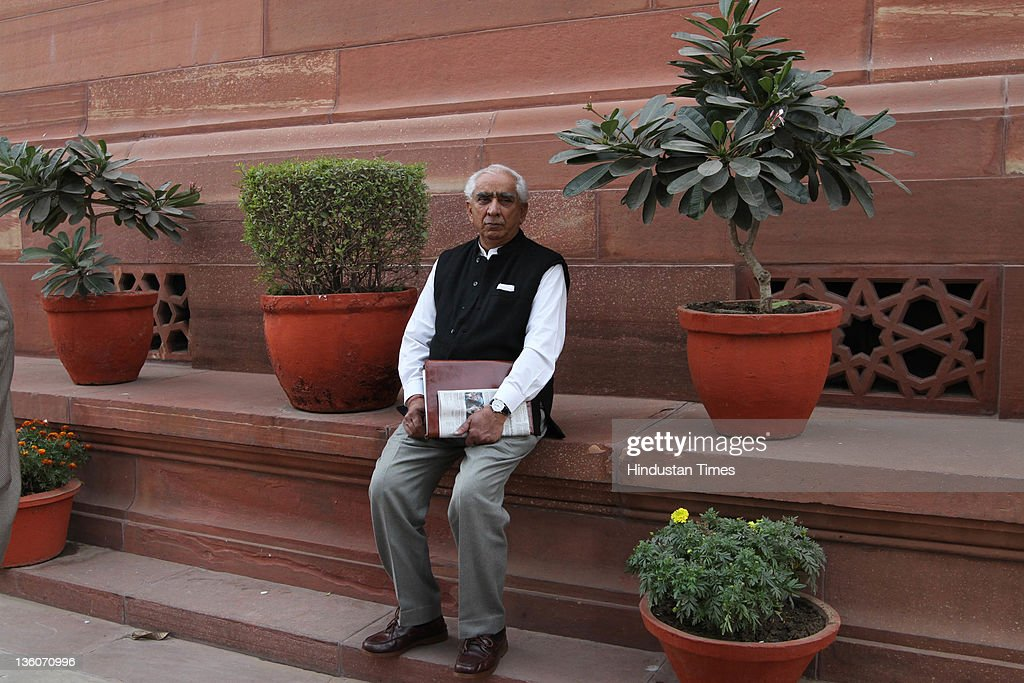 BJP Senior leader <a gi-track='captionPersonalityLinkClicked' href=/galleries/search?phrase=Jaswant+Singh&family=editorial&specificpeople=220287 ng-click='$event.stopPropagation()'>Jaswant Singh</a> appears at Parliament House on December 22, 2011 in New Delhi, India. Two bills were considered in Parliament today.