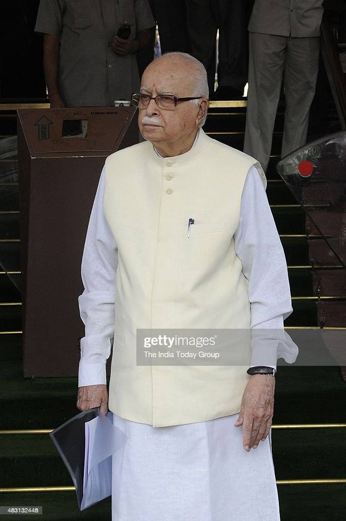 BJP Senior Leader LK Advani at Parliament during the Monsoon Session.