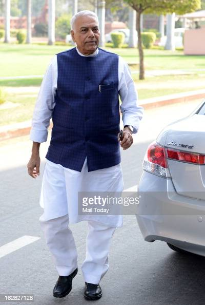 BJP senior leader Yashwant Sinha during the ongoing budget session at Parliament House on Wednesday