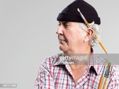Senior male artist