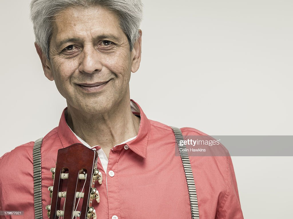 Senior Male with guitar : Stock Photo