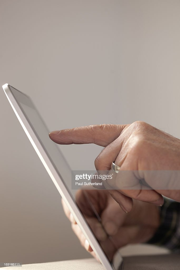 Senior male with Technology : Stock Photo