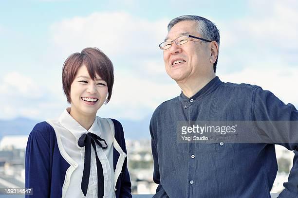 Senior man and Businesswoman