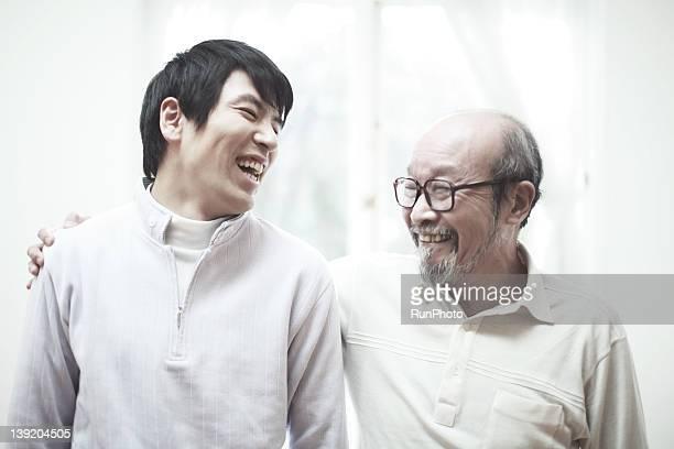Senior man and son