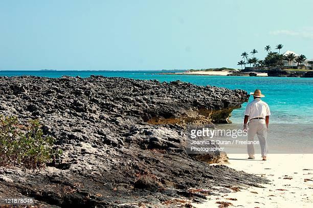Senior man at beach