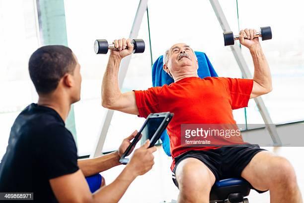 Senior Man at Physiotherapy