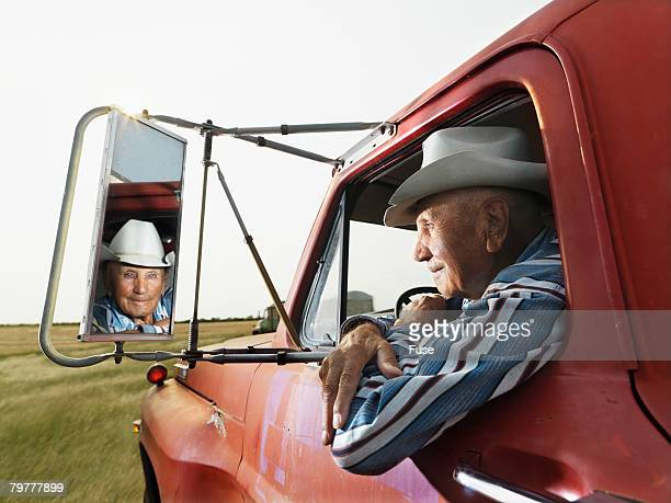 Senior Man Driving Truck