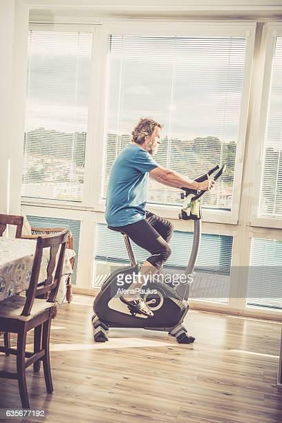Senior Man exercising at Home - Mediterranean Active Seniors