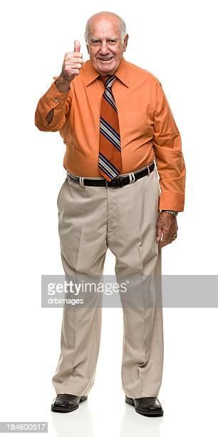 Senior Man Gives Thumbs Up