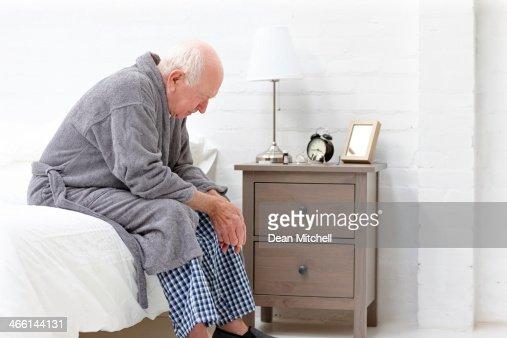 Senior man in pensive mood