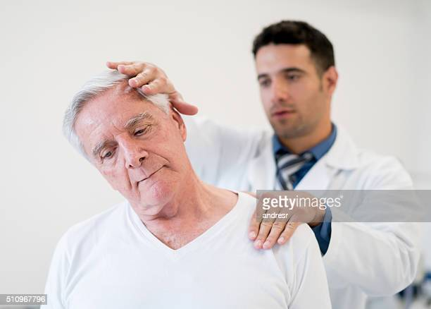 Senior man in physiotherapy