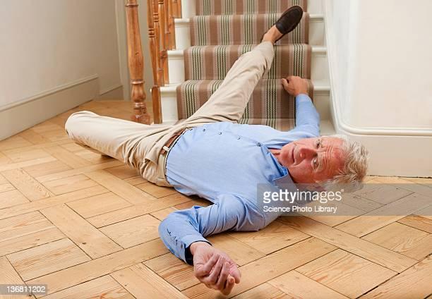 Senior man injured in a fall