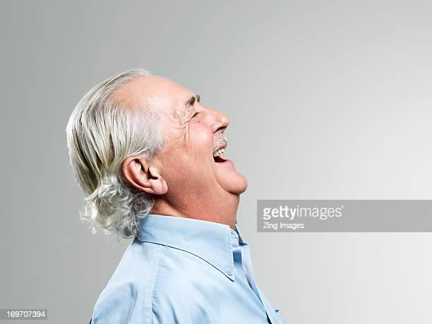 Senior man laughing