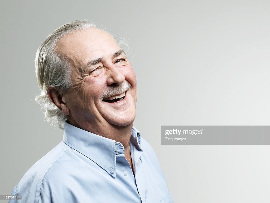 Senior man laughing