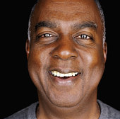 Senior man laughing, portrait, close-up