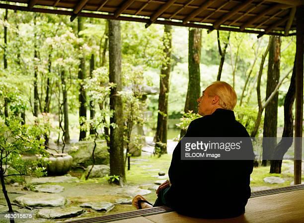 Senior Man Looking At Trees
