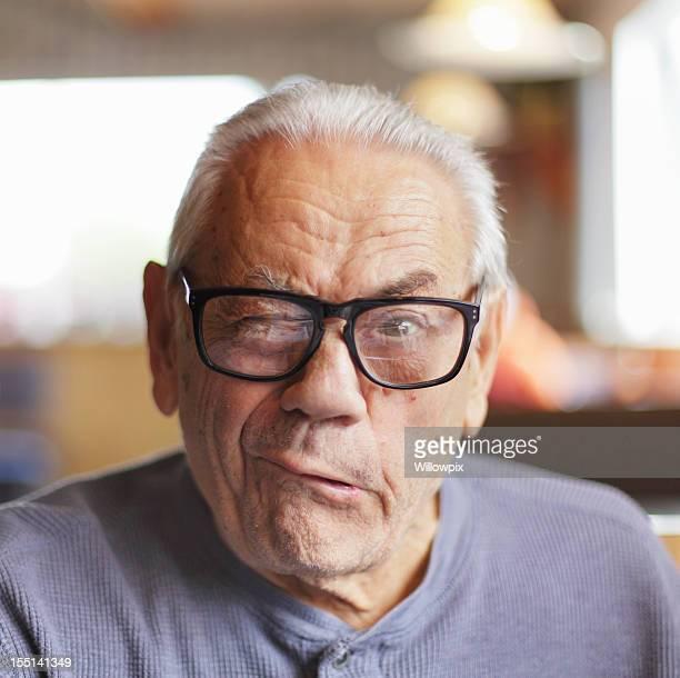 Senior Man Making Funny Face