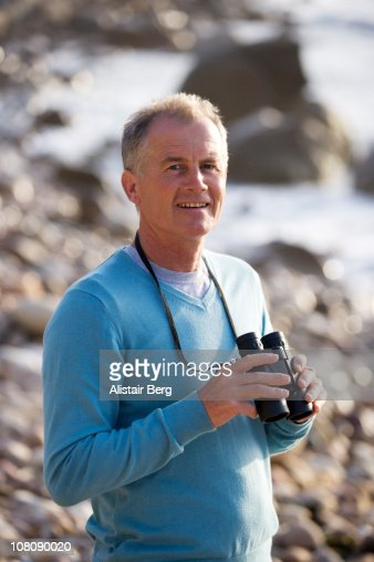 Senior man on beach : Stock Photo