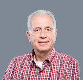 Happy senior man portrait.