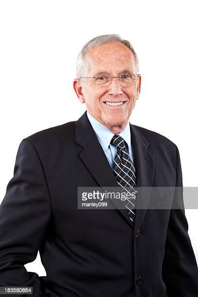 Senior man posing as a professional
