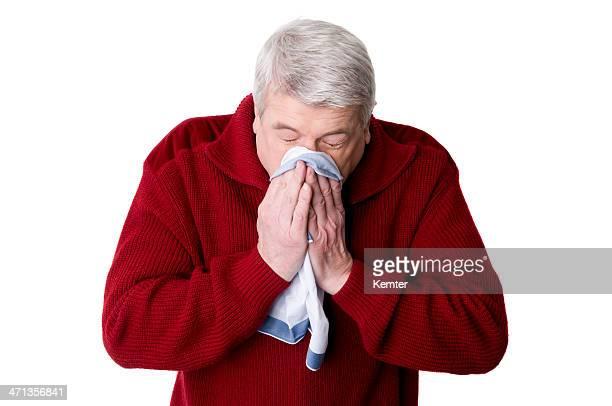 Idoso Espirrar