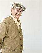 Senior man wearing hat, portrait