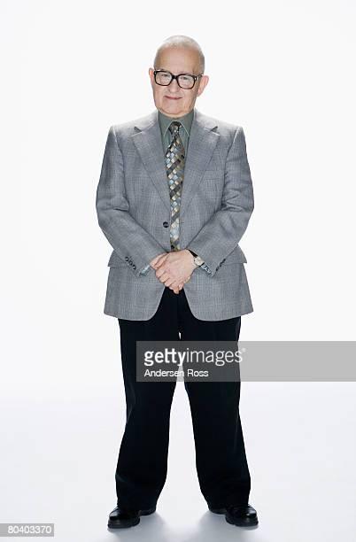 Senior man wearing suit
