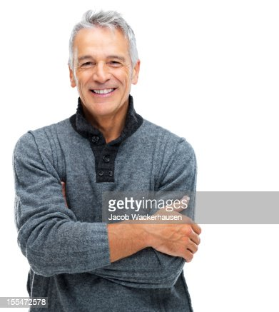 Senior man with a content smile