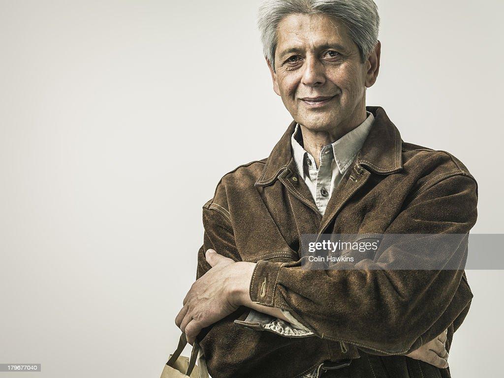 Senior man with shopping bag : Stock Photo