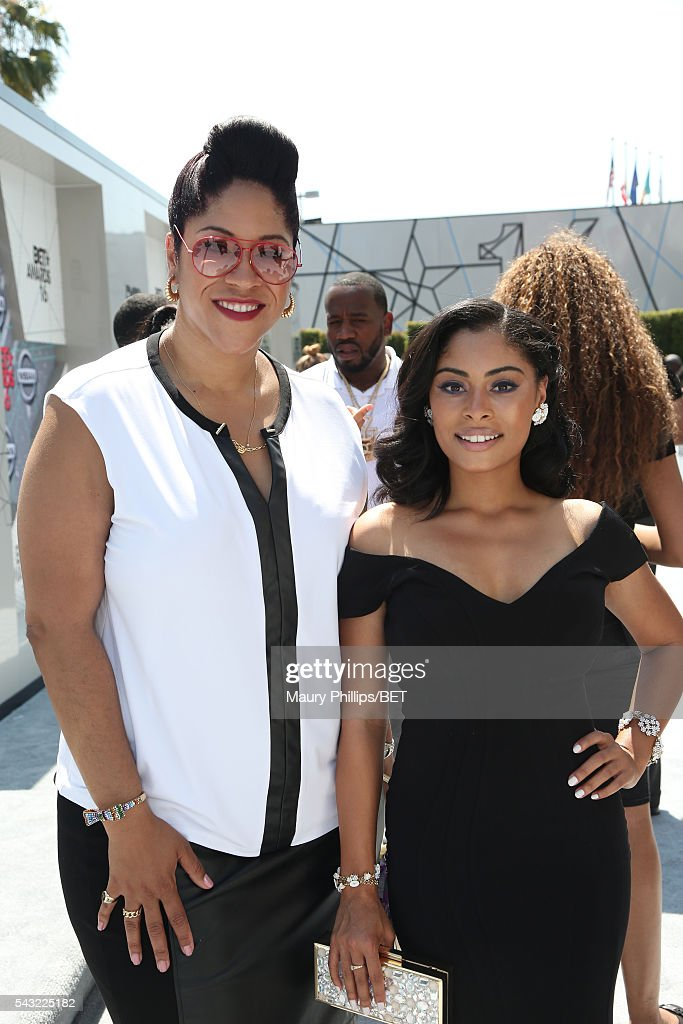 Senior Manager, Brand Solutions/Integrated Marketing at BET Kimberly King (L) and actress Katlynn Simone attend the Nissan red carpet during the 2016 BET Awards at the Microsoft Theater on June 26, 2016 in Los Angeles, California.