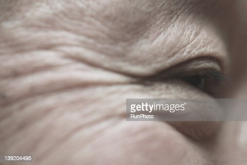Senior man,eye close-up