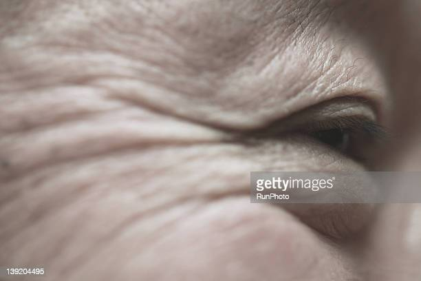 Senior man,eye close-up