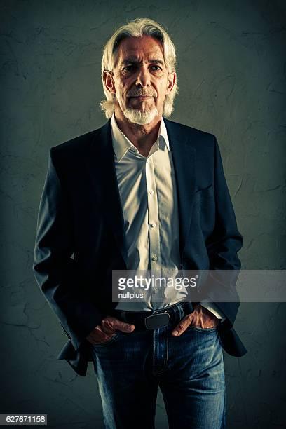 Senior man's studio portrait