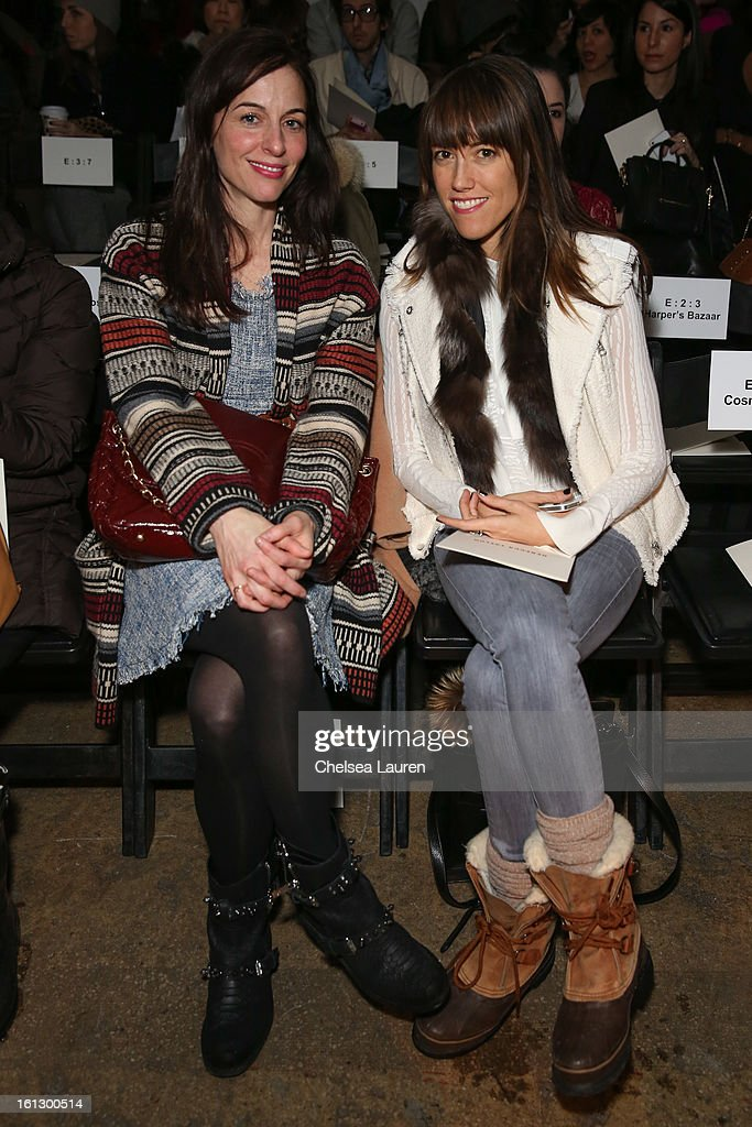 Senior market fashion editor of Cosmopolitan Amri Ryan Kibbler (R) attends the Rebecca Taylor fall 2013 fashion show during Mercedes-Benz Fashion Week at Highline Stages on February 9, 2013 in New York City.