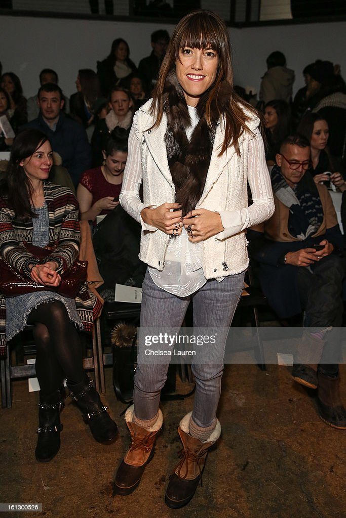 Senior market fashion editor of Cosmopolitan Amri Ryan Kibbler attends the Rebecca Taylor fall 2013 fashion show during Mercedes-Benz Fashion Week at Highline Stages on February 9, 2013 in New York City.