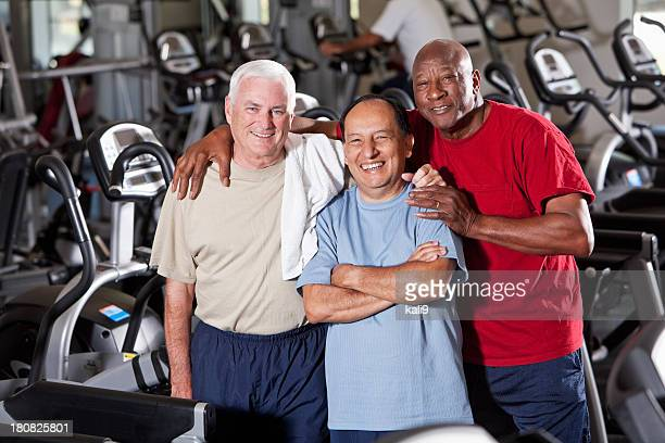 Senior men at health club