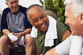 Senior Men Socializing