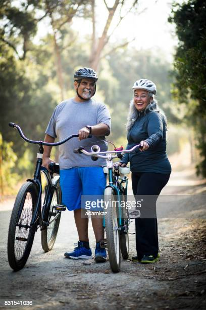 Senior Mexican Couple Biking