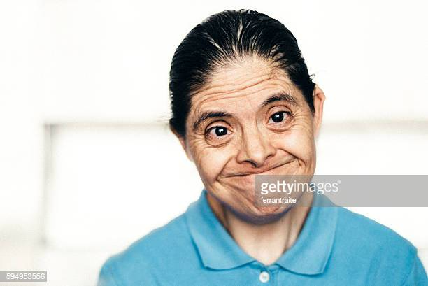 Senior Mexican woman with down syndrome