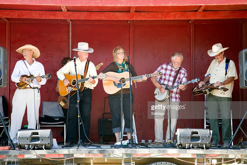 Senior Musicians Performing At The Fall Fair : Stock Photo