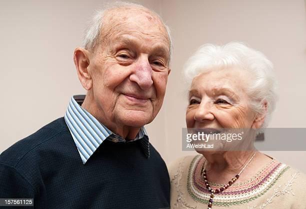 Senior pareja octogenarian (en los años ochenta