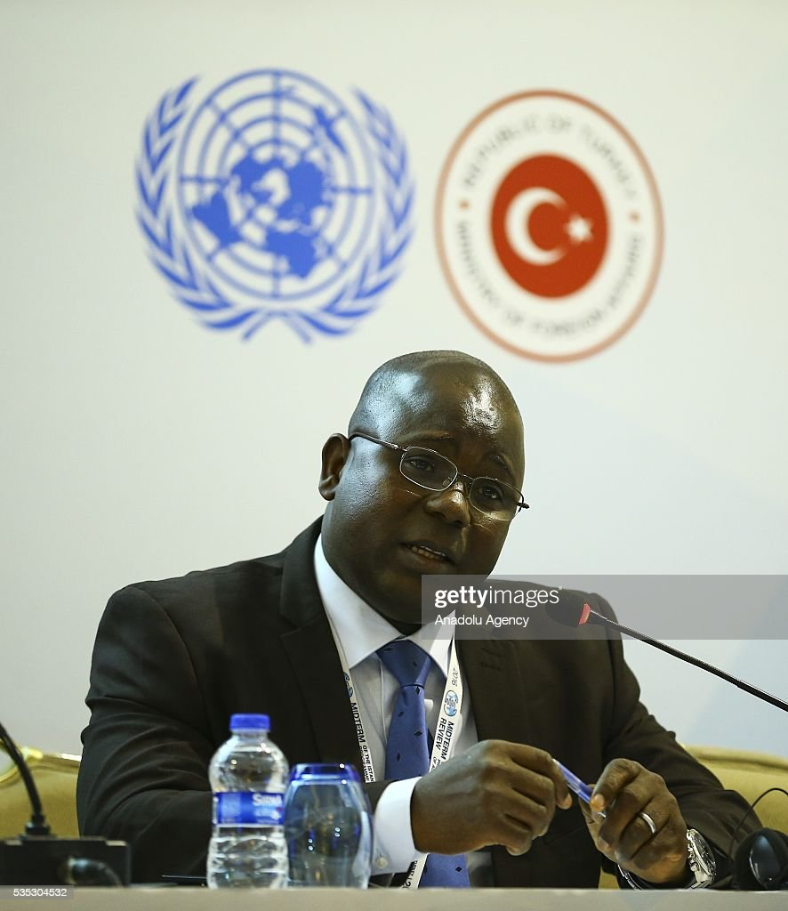 Senior officer of Ministry of Environment and Forest Resources of Togo, Abiziou Paul Tchinguilou attends the 'Climate Change in the Least Developed Countries' session as part of the Istanbul Programme of Action for the Least Developed Countries in Antalya, Turkey on May 29, 2016.