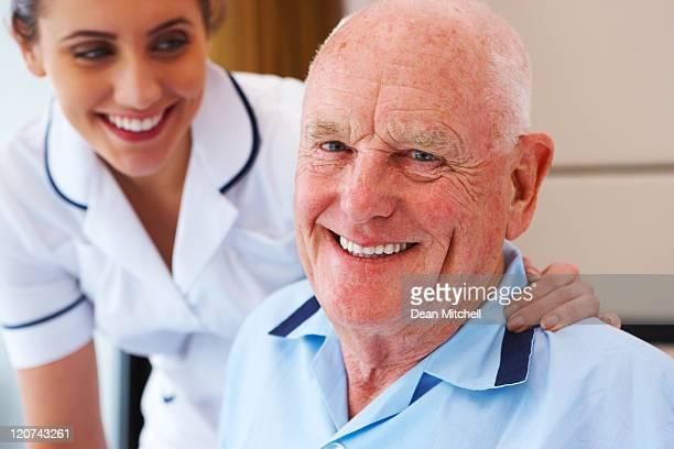Senior Patient and His Nurse