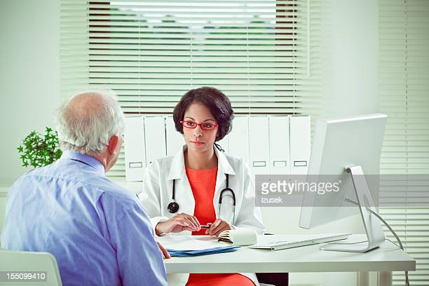 Senior patient at a doctor