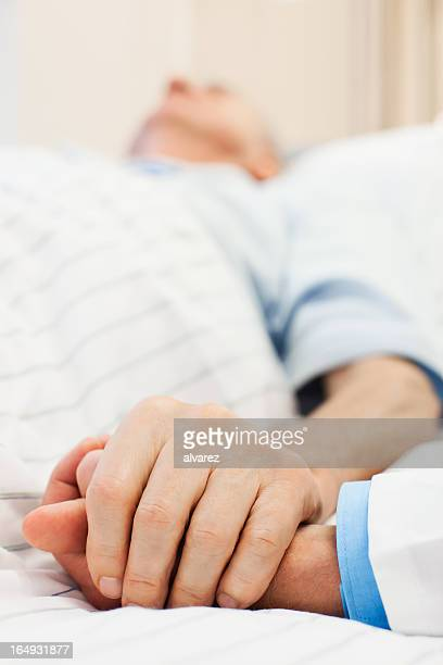 Senior patient taken care of a doctor