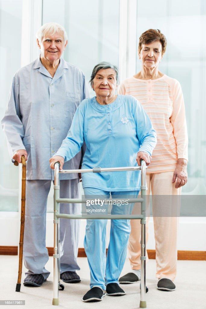 Senior people at nursing home. : Stock Photo