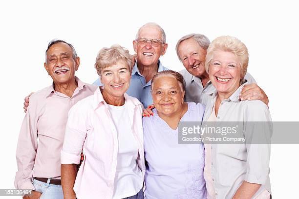 Senior people enjoying spending time together