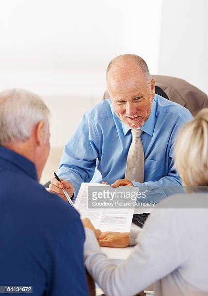 Senior people having a conversation