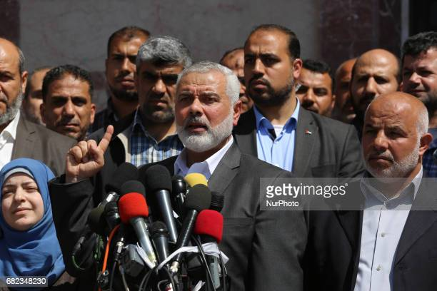 Senior political leader of Hamas Ismail Haniyeh announces that the responsible for the assassination of Mazin Fukaha one of the Commanders of the...