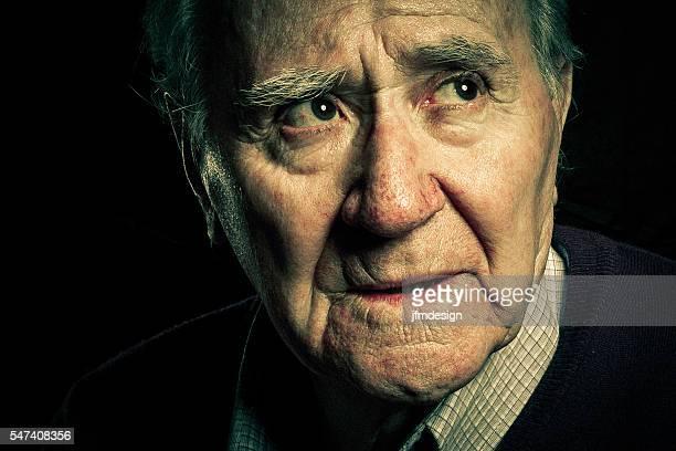 senior portrait worried